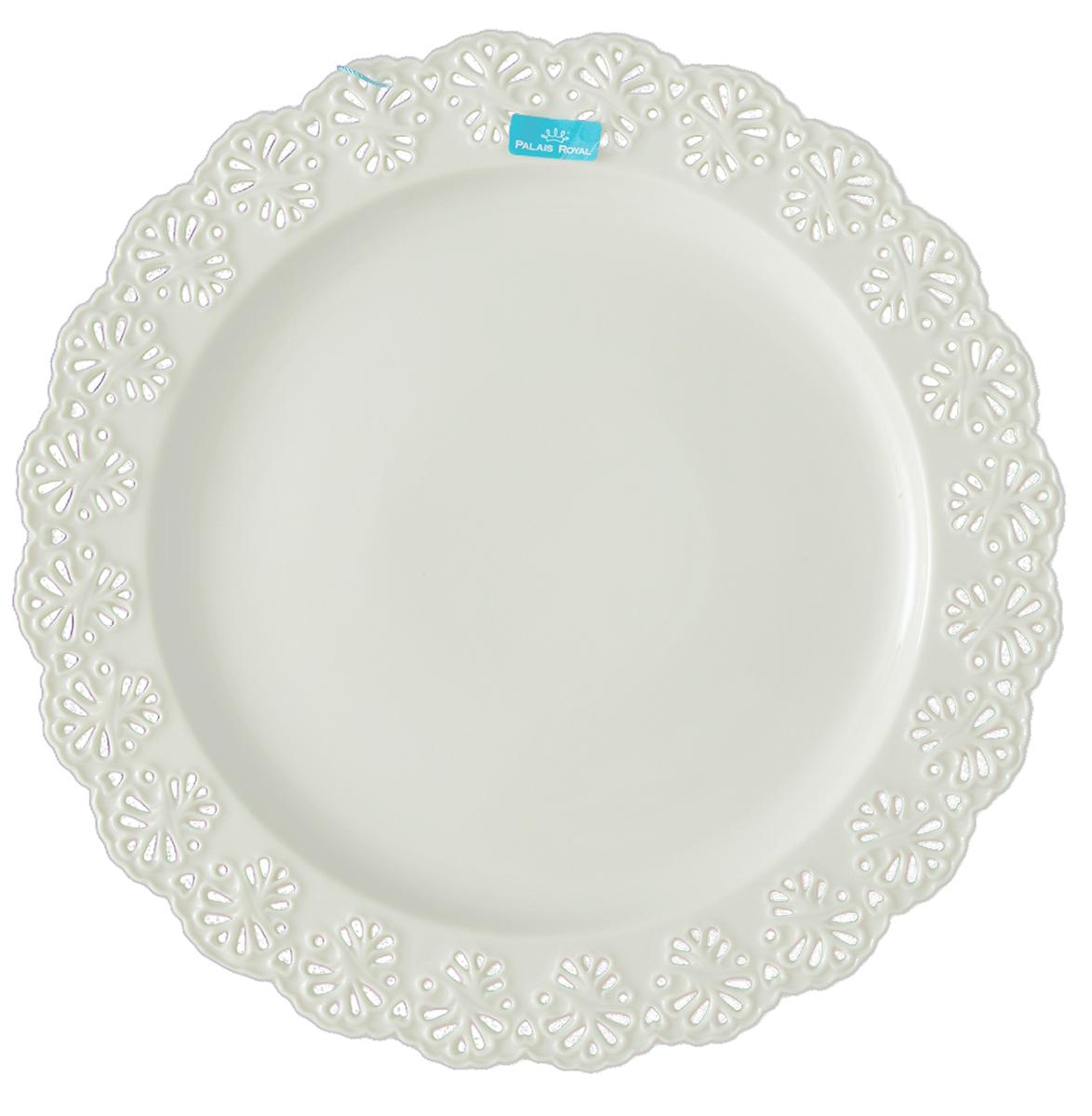 Блюдо Lamart Кружева, диаметр 30 см133232Очень приятно садиться за стол, который манит не только вкусными угощениями, но и безукоризненной чистотой скатерти, изящными приборами и, конечно же, элегантными тарелками. Блюдо ручной работы Кружева станет настоящим украшением обеденного стола благодаря своему эффектному внешнему виду: орнамент, обрамляющий его, действительно кажется кружевным, так тонко и изящно он сделан. Изготовленное из ценного костяного фарфора, это блюдо, как и любое изделие итальянской марки Lamart, отличается превосходным качеством. Оно станет прекрасным подарком хозяйке дома, ценящей стильные и эксклюзивные вещи.