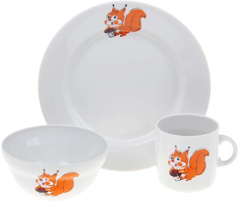 Набор детской посуды Фарфор Вербилок Детская тематика, 3 предмета. 1302134 набор детской посуды фарфор вербилок тигрята 3 предмета 1302153