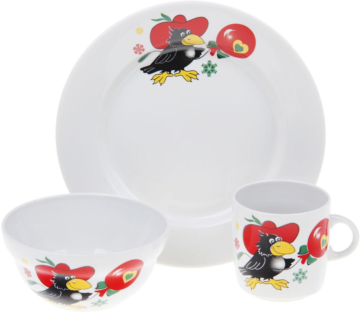Набор детской посуды Фарфор Вербилок Праздничный, 3 предмета. 1302151 набор детской посуды фарфор вербилок тигрята 3 предмета 1302153