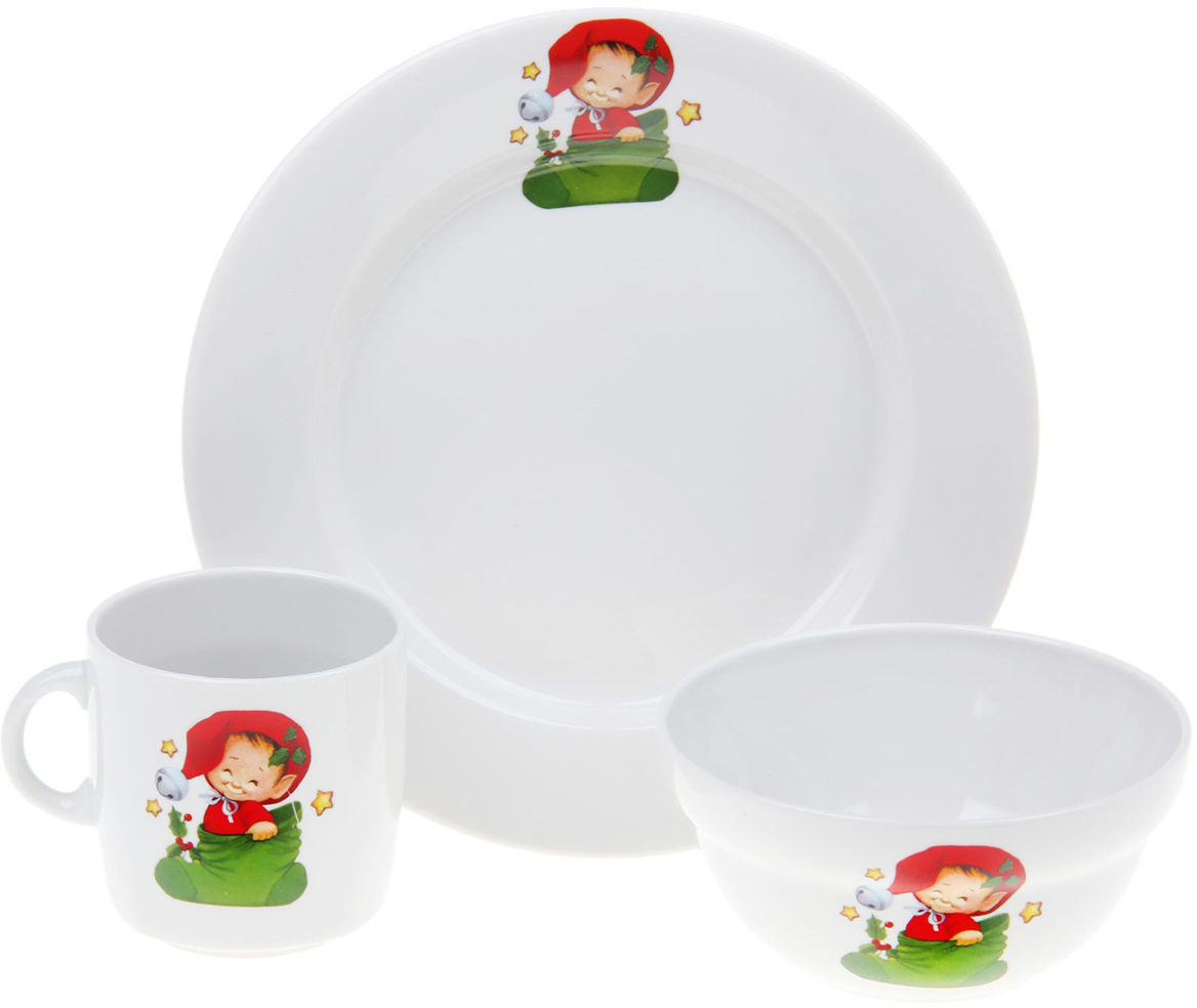 Набор детской посуды Фарфор Вербилок Гномики, 3 предмета. 1302155