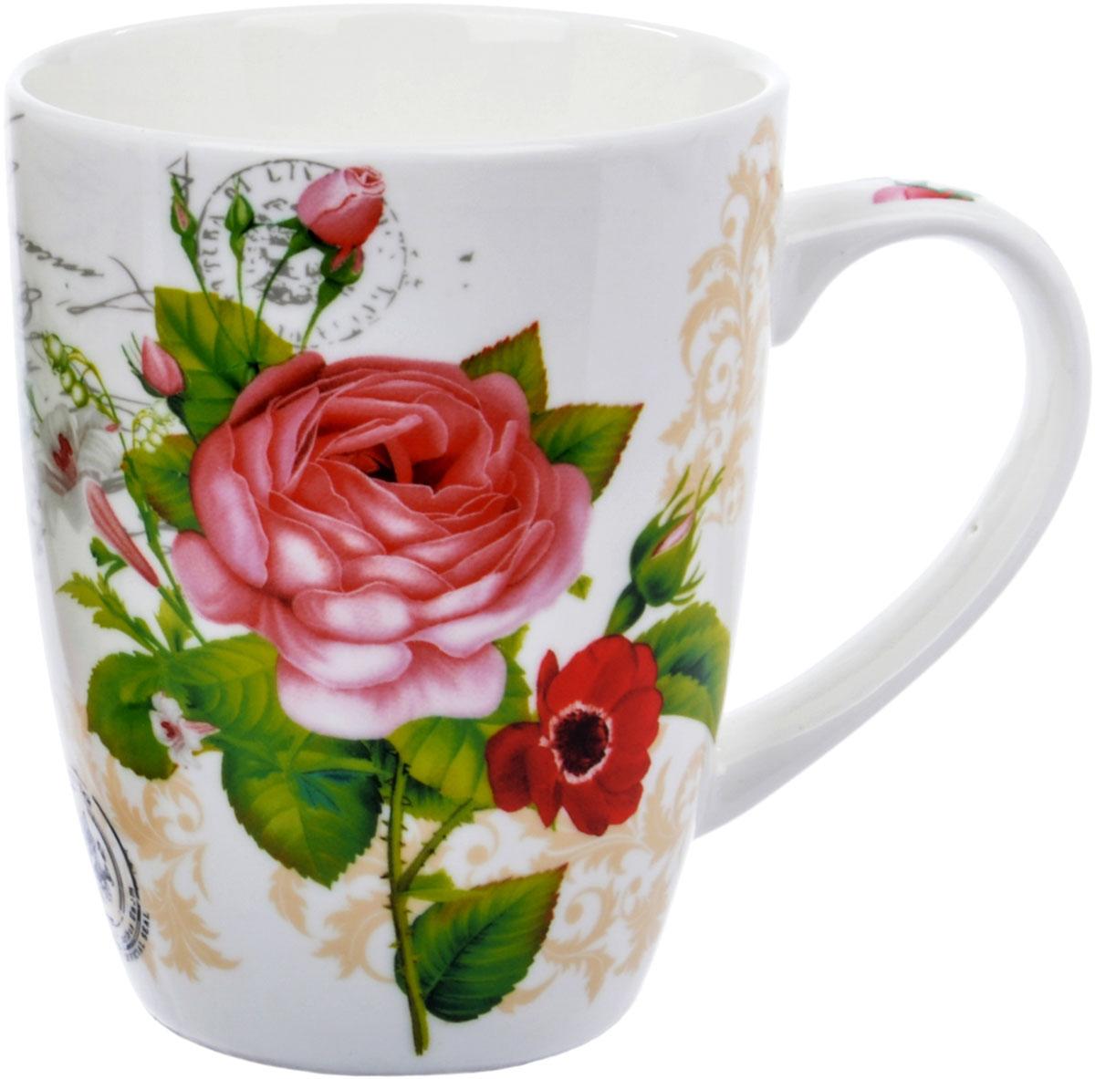 Кружка Ningbo Royal Роза садовая, 355 млRUCH070Фарфоровая кружка Ningbo Royal Роза садовая удивит вас приятным сочетанием отменного качества фарфора и цветочным декором. Кружка найдет свое применение как в городской квартире, так и в загородном доме. Элегантный декор будет одинаково хорошо смотреться в любое время года. Кружку Ningbo Royal Роза садовая можно использовать в СВЧ и мыть в посудомоечной машине.
