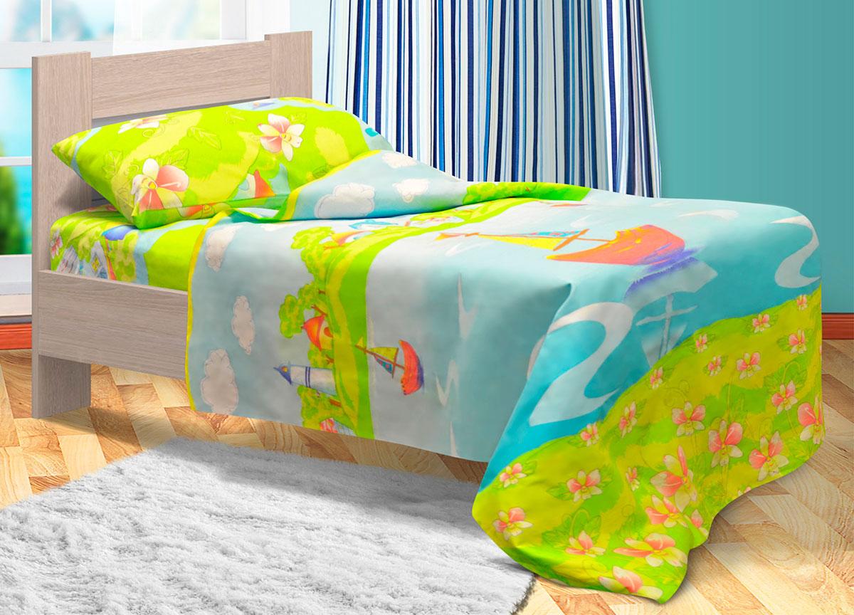 """Невероятно красочное постельное белье """"Bonne Fee"""" украсит детскую комнату  и  подарит ребенку  отличное настроение на весь день.  Этот комплект выполнен из бязи, отличается прекрасной  прочностью и подходит для ежедневного использования. Белье имеет гладкую матовую поверхность, которая очень  приятна на ощупь и выглядит одинаково эстетично с лицевой и изнаночной стороны. Постельное  белье великолепно сохраняет яркость красок и даже после многочисленных  стирок выглядит так, будто куплено вчера.  В комплект входят наволочка, простыня и  пододеяльник.  Комплект станет замечательным дополнением к интерьеру детской комнаты."""