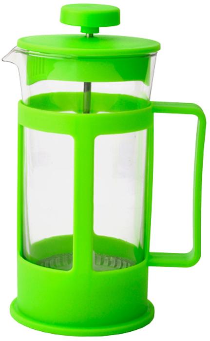 Френч-пресс Gelberk, цвет: зеленый, 600 мл. GLK-811GLK-811Френч-пресс GLK-811Френч-пресс для заваривания кофе, чая и травянных сборовОбъем 600 млЖаропрочное стекло Пластиковый фильтр Цвет зелёный