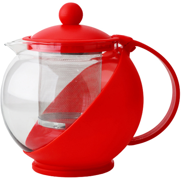 Чайник заварочный Gelberk, цвет: красный, 750 мл. GLK-813GLK-813Чайник заварочный Gelberk выполнен из высококачественной нержавеющей стали, пластика ижаропрочного стекла. Предназначен для заваривания чая и различных травяных сборов.Благодаря прозрачным стенкам вы можете определить крепость заваренного чая. Объем чайника 750 мл.