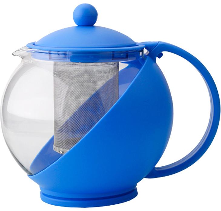 Чайник заварочный Gelberk, цвет: голубой, 1,2 л. GLK-814GLK-814Чайник заварочный Gelberk выполнен из высококачественной нержавеющей стали, пластика ижаропрочного стекла. Предназначен для заваривания чая и различных травяных сборов.Благодаря прозрачным стенкам вы можете определить крепость заваренного чая. Объем чайника: 1200 мл.