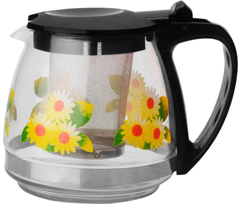 Чайник заварочный Gelberk, цвет: черный, 700 мл. GLK-815GLK-815Чайник заварочный Gelberk выполнен из высококачественной нержавеющей стали, пластика ижаропрочного стекла. Предназначен для заваривания чая и различных травяных сборов.Благодаря прозрачным стенкам вы можете определить крепость заваренного чая. Объем чайника 700 мл.