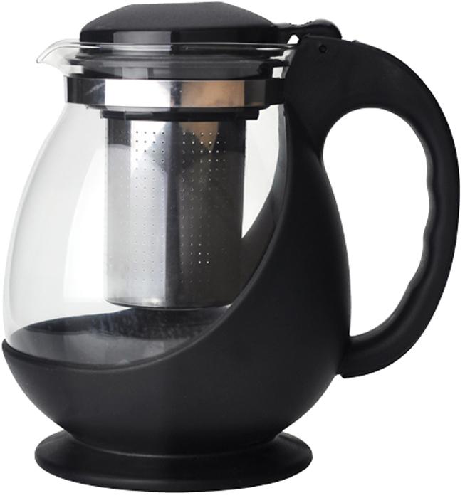 """Чайник заварочный """"Gelberk"""" выполнен из высококачественной нержавеющей стали, пластика и  жаропрочного стекла. Предназначен для заваривания чая и различных травяных сборов.  Благодаря прозрачным стенкам вы можете определить крепость заваренного чая. Объем чайника: 1400 мл."""