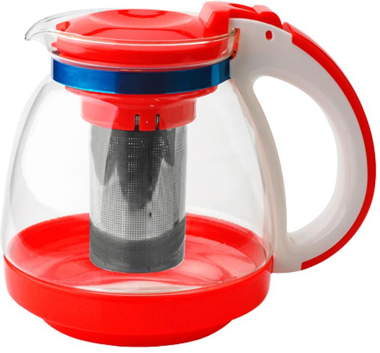 Чайник заварочный Gelberk, цвет: красный, 1,5 л. GLK-817GLK-817Чайник заварочный Gelberk выполнен из высококачественной нержавеющей стали, пластика ижаропрочного стекла. Предназначен для заваривания чая и различных травяных сборов.Благодаря прозрачным стенкам вы можете определить крепость заваренного чая. Объем чайника: 1500 мл.