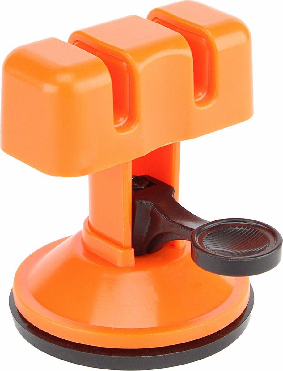Точилка для ножей Ruges Клинок, на присоске, цвет: оранжевый