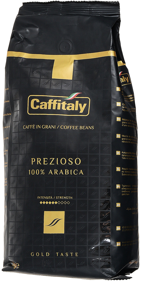 Caffitaly Ecaffe Prezioso кофе в зернах, 1 кг (с клапаном дегазации) кофе caffitaly кофе в капсулах mesico