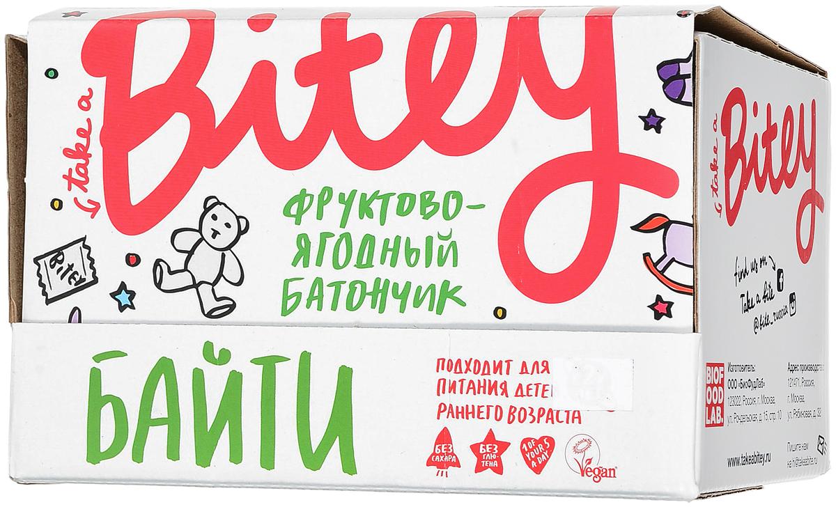 Take A Bitey Яблоко-Вишня батончик фруктово-ягодный, 30 шт по 25 г take a bitey яблоко груша батончик фруктово ягодный 25 г