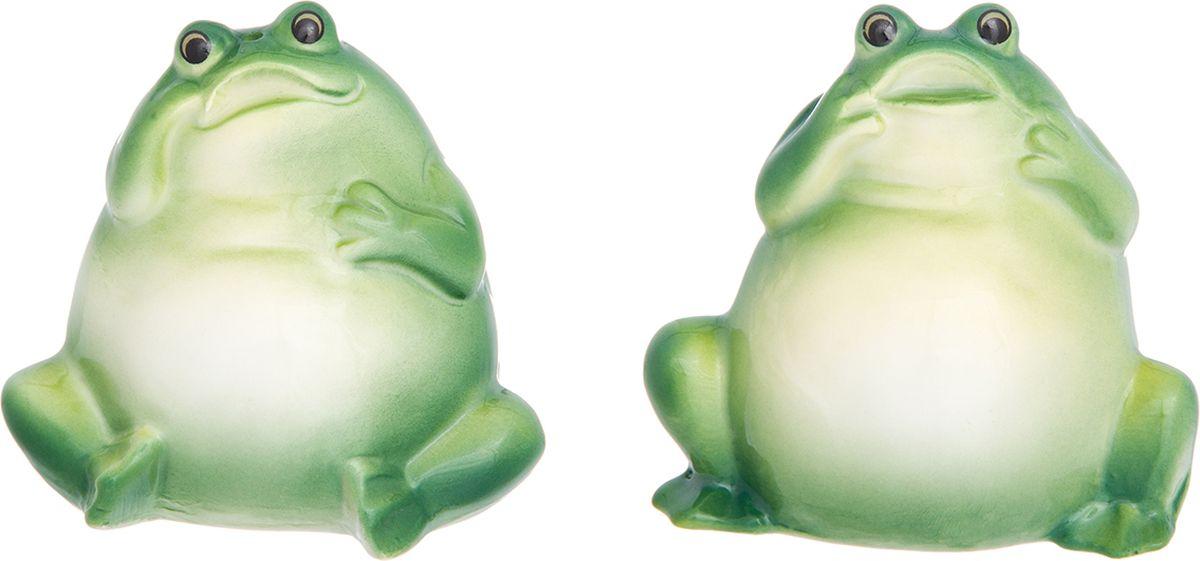 Набор для специй Elan Gallery Зеленые лягушки, 2 предмета набор для специй карамба свинки 2 предмета