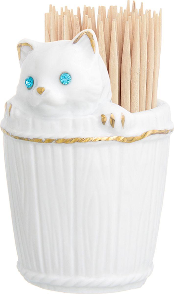 Вазочка под зубочистки Elan Gallery Кошечка в кадушке, высота 8 см. 330413330413Вазочка под зубочистки коллекции - приятная интерьерная мелочь, которая прекрасно дополнит облик вашего стола. Станет замечательным подарком по любому поводу.