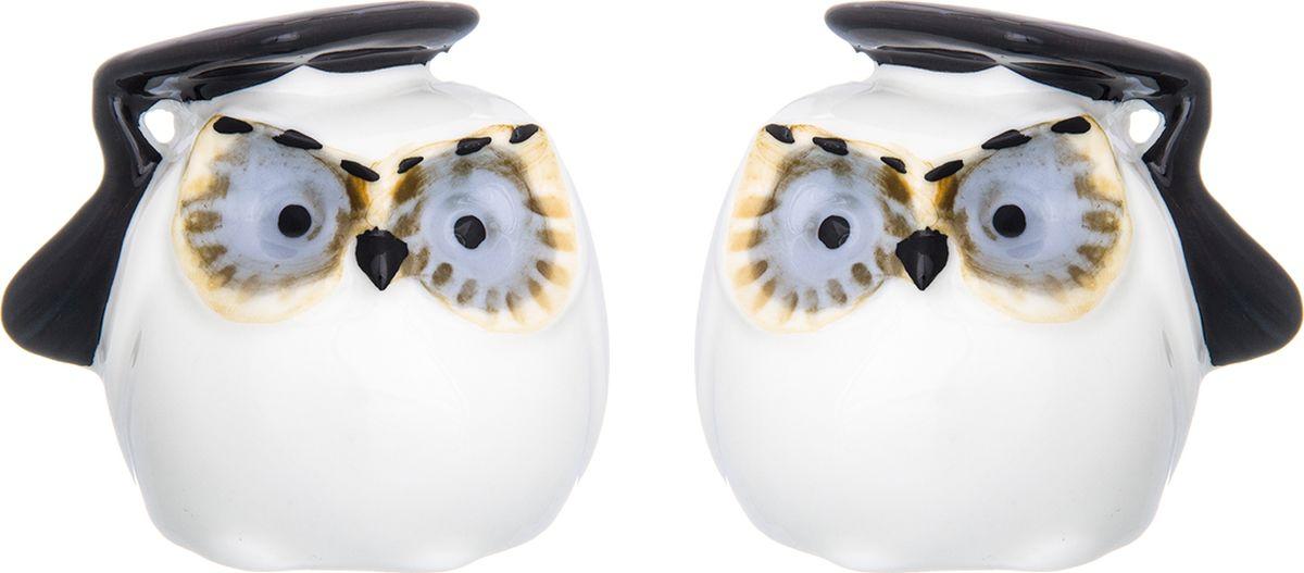 Набор для специй Elan Gallery Совы-магистры, 2 предмета футболка с полной запечаткой мужская printio the mask vs beetlejuice 1