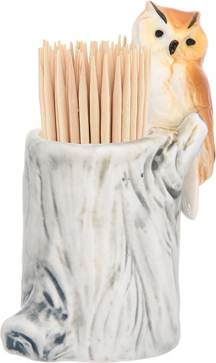Вазочка под зубочистки Elan Gallery Сова, высота 8 см330726Вазочка под зубочистки коллекции - приятная интерьерная мелочь, которая прекрасно дополнит облик вашего стола. Станет замечательным подарком по любому поводу.