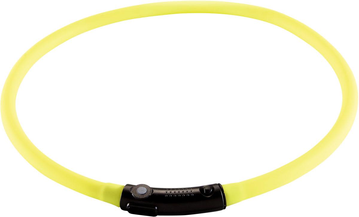 Ошейник Hunter LED Yukon, cветящийся, цвет: лаймовый, обхват шеи 20-70 см92354Hunter cветящийся шнурок на шею LED 20-70 см диаметр 1 см лайм Практичный светодиодный силиконовый шнурок. Видимость до 500 метров. Аккумулятор заряжается через USB. Водостойкий. 2 режима свечения (мигание и постоянный режим). Для уменьшения размера, просто отрежьте кусочек шнура ножницами. Время непрерывной работы 2-3 часа. Время полной зарядки около 60 минут.