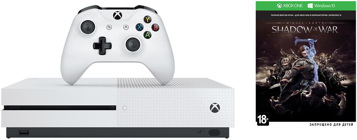 Игровая приставка Xbox One S 500 ГБ + Shadow of War Microsoft