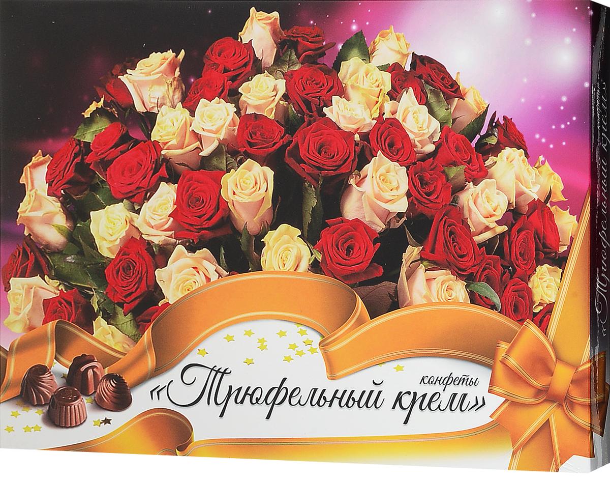 ШокоЛеди Конфеты ассорти с начинкой трюфельный крем, 150 г (Розы) lumiere халвичные конфеты с начинкой 155 г