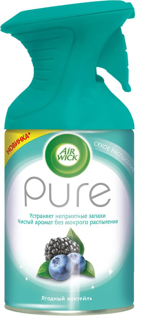 Новый освежитель воздуха Air Wick Pure не содержит воды и эффективно устраняет неприятные запахи без мокрого распыления. Используйте освежители воздуха Air Wick Pure в каждой комнате, наполняя ваш дом свежими и приятными ароматами. Хранить в недоступном для детей и животных месте. Внимание: прочитать внимательно этикетку перед использованием. Использовать с осторожностью при повышенной чувствительности к парфюмерным отдушкам (запахам). Освежители воздуха не являются заменой надлежащих мер гигиены. Использовать только в хорошо проветриваемых помещениях.  Меры предосторожности: баллон находится под давлением. При нагревании возможен разрыв баллона. Предохранять от воздействия прямых солнечных лучей и нагревания выше 50°С. Огнеопасно! Не распылять вблизи открытого огня, раскаленных предметов, источников тепла или включенного электрооборудования. Не курить в помещении при использовании аэрозольного баллона. Не прокалывать и не сжигать даже после использования. Не разбирать и не давать детям. При попадании в глаза промыть осторожно водой в течение нескольких минут. Удалить контактные линзы при наличии, продолжить промывку. При обращении к врачу иметь при себе упаковку или этикетку. Использовать только по прямому назначению. Не вдыхать аэрозоль. Утилизировать вместе с бытовыми отходами.  Держа баллон вертикально, нажать курок до упора и распылить аэрозоль от себя к центру комнаты.   Товар сертифицирован.