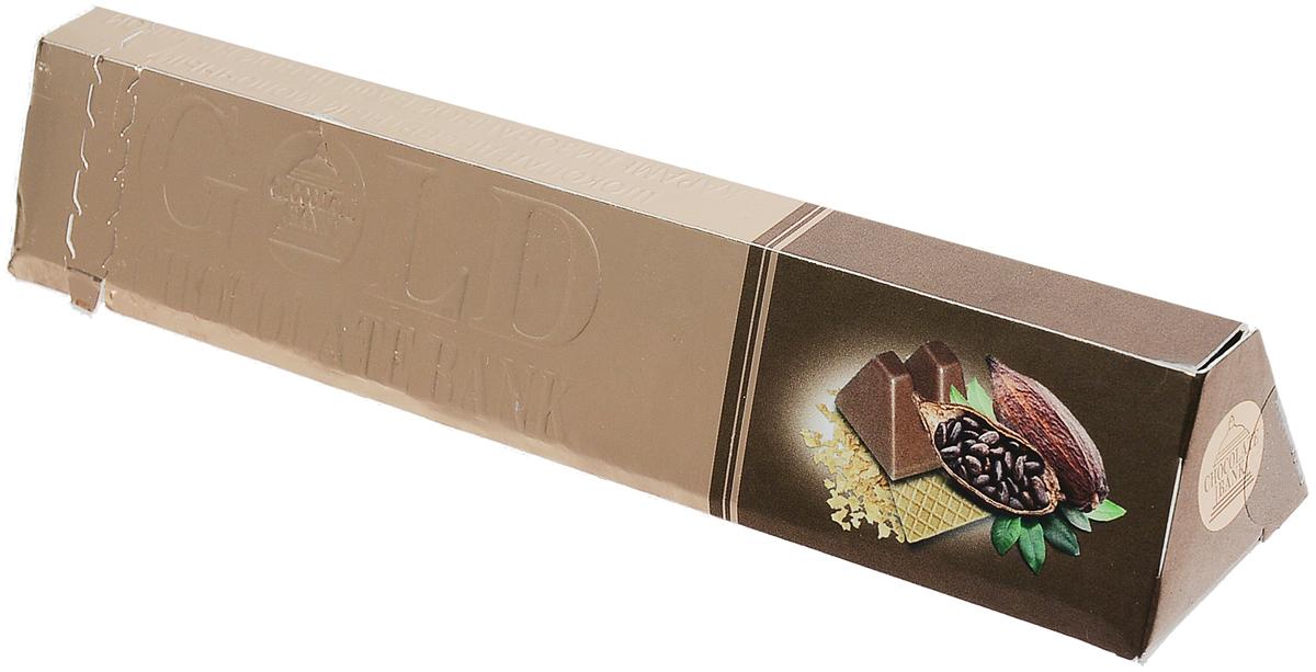 Шоколадный Банк шоколад десертный молочный с вафельной крошкой, 100 гЭ8006324Шоколадный Банк - десертный молочный шоколад с вафельной крошкой. Это отличный подарок для близкого человека! Он обрадует получателя нежным вкусом и креативным оформлением. Вручите его как комплимент или дополните шоколадом основной подарок.