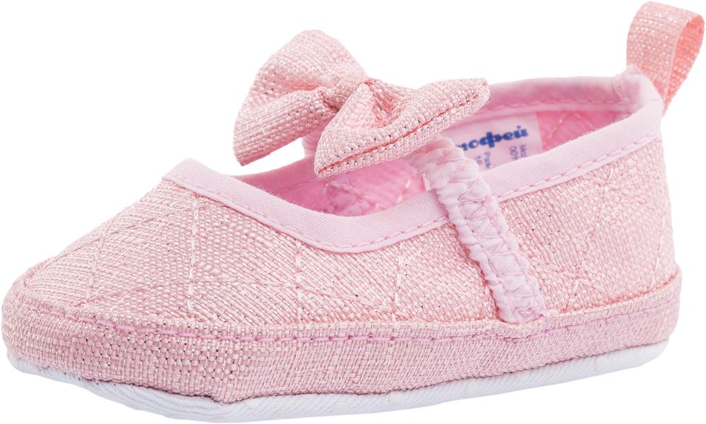 Пинетки для девочки Котофей, цвет: розовый. 001070-12. Размер 17