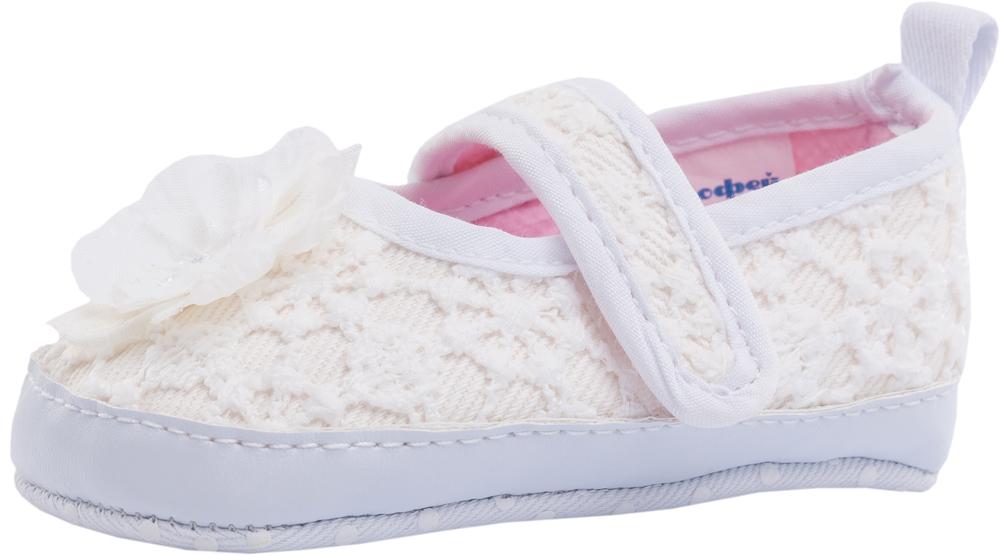 Пинетки для девочки Котофей, цвет: белый. 001069-11. Размер 16001069-11Легкая, мягкая и удобная обувь для младенцев выполнена полностью из высококачественных материалов. Пинетки хорошо держаться на ножке ребенка с помощью резинок. Защитят и согреют ножки вашего ребенка во время прогулок в коляске.