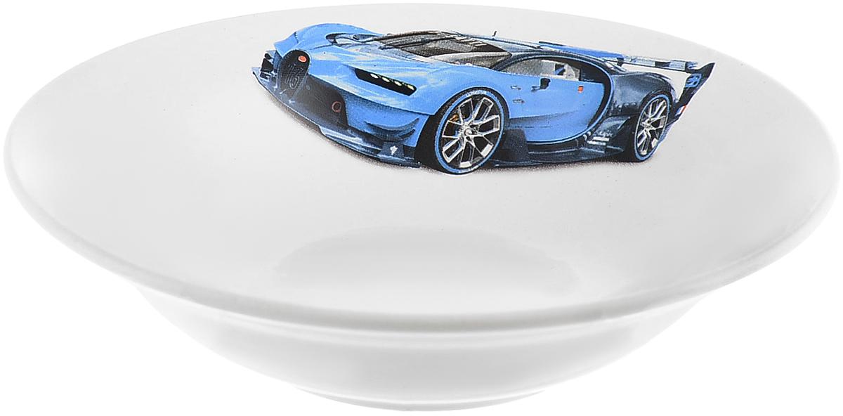 Кубаньфарфор Миска детская Гонки цвет машины синий 250 мл