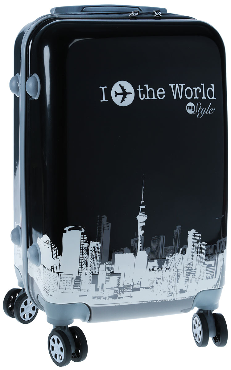 Чемодан Proffi Ретро, цвет: черный, 45 л чемодан samsonite чемодан 55 см lite biz