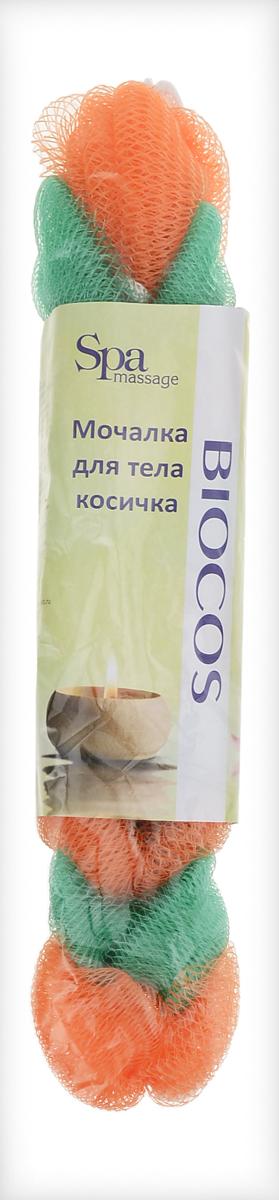BioCos Мочалка для тела Косичка, цвет: зеленый, оранжевый5955_зеленый, оранжевыйМочалка для тела BioCos Косичка обладает тонизирующим эффектом. Подходит для ежедневного применения. Деликатно и нежно очищает кожу, легко вспенивает даже небольшое количество геля или мыла. Обладает приятным отшелушивающим эффектом, мочалка массирует кожу, снимая усталость и напряжение. Служит долго, сохраняя свою первоначальную форму.Перед использованием размочить в горячей воде. После применения тщательно промыть под струей воды и высушить.Состав: безузловая сетка.