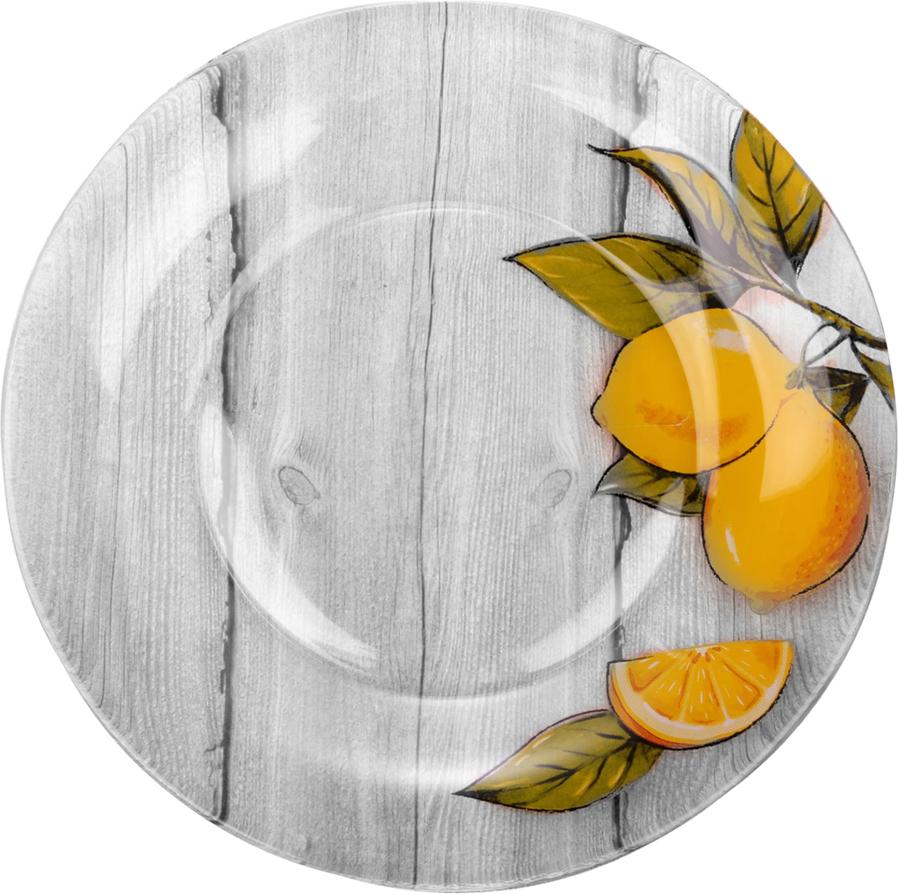 Набор тарелок Sima-land Лимоны, диаметр 20 см, 6 шт свеча ароматизированная sima land лимон на подставке высота 6 см