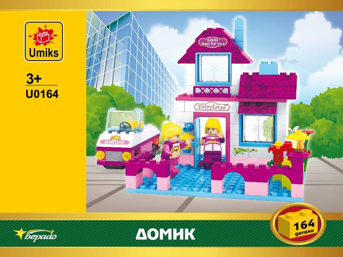 Umiks Конструктор Кукольный домик U0164 деревянный конструктор кукольный домик