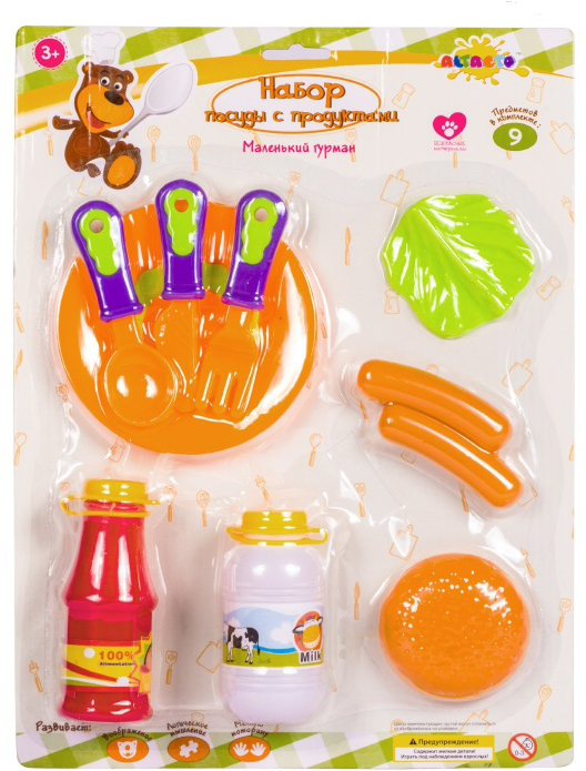 Altacto Игровой набор посуды с продуктами Маленький гурман 9 предметов altacto игровой кухонный набор чудесный магазин 8 предметов