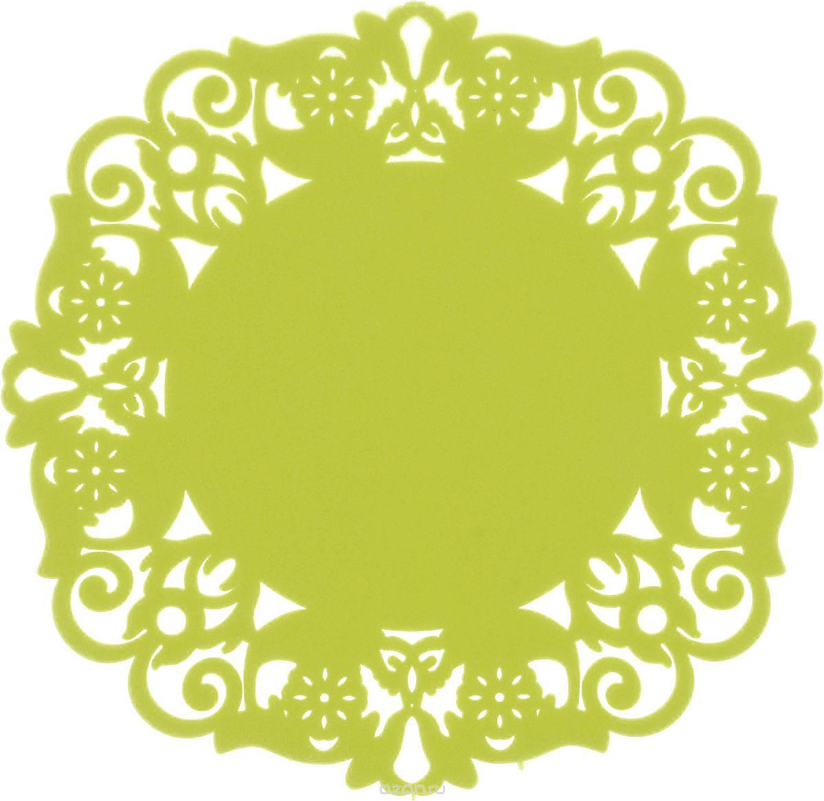 Набор подставок под горячее Доляна Чаепитие, цвет: зеленый, 10 см, 4 шт812066_зеленыйСиликоновая подставка под горячее - практичный предмет, который обязательно пригодится в хозяйстве. Изделие поможет сберечь столы, тумбы, скатерти и клеенки от повреждения нагретыми сковородами, кастрюлями, чайниками и тарелками.