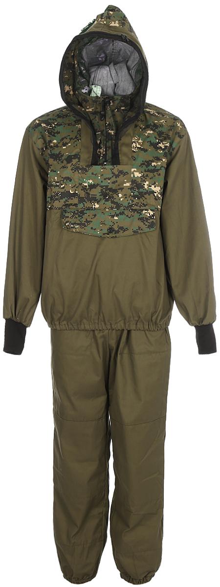 Костюм мужской противоэнцефалитный Тайга Север Штурм-Цифра, цвет: коричневый. 55806. Размер 60/62-170/176Костюм противоэнцефалитный Штурм-ЦифраКостюм состоит из куртки и брюк. Изготовлен из смесовых тканей с комбинацией однотонного цвета с лесными и камуфлированными расцветками. Куртка дополнена капюшоном с москитной сеткой.