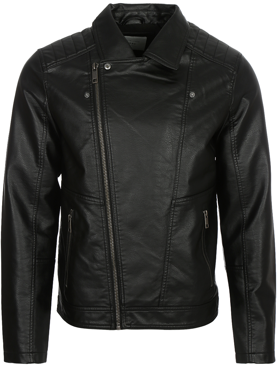 Куртка мужская Jack & Jones, цвет: черный. 12125763_Black. Размер XXL (54)