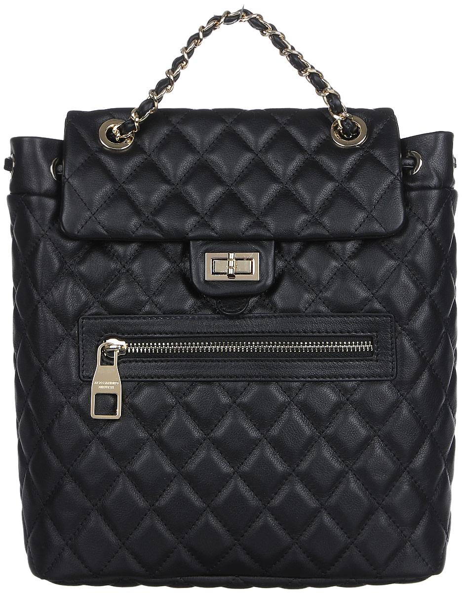 Рюкзак женский Alessandro Birutti , цвет: черный. 13-299-2 alessandro черные замшевые сапоги с меховыми отворотами от alessandro