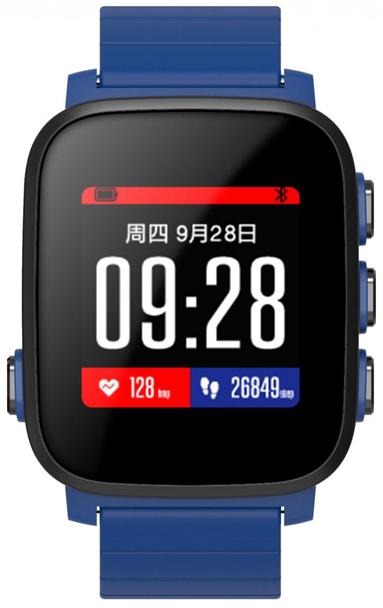 SMA Q2 Lite, Blue умные часыSMA-Q2-Lite-BlueSMA Q2 Lite - это идейный наследник, снятых с производства Pebble. Часы обладают как смарт-функциями, таки возможностями отслеживания вашего физического состояния. Они на протяжении всего дня автоматическисчитают количество пройденных шагов, сожженных калорий, показания пульса и оценивают качество идлительность сна. Идеальное сочетание умных часов с фитнес-трекером. Интересной особенностью стал цветнойдисплей, выполненный по технологии Memory LCD. Как и в Pebble, он прекрасно читается даже при яркомсолнечном свете и потребляет всего 0,8% энергии в сравнении с другими дисплеями такого же размера. За счетэтого SMA Q2 Lite работают до 40 дней в режиме ожидания и до 15-20 дней в режиме активного использования!
