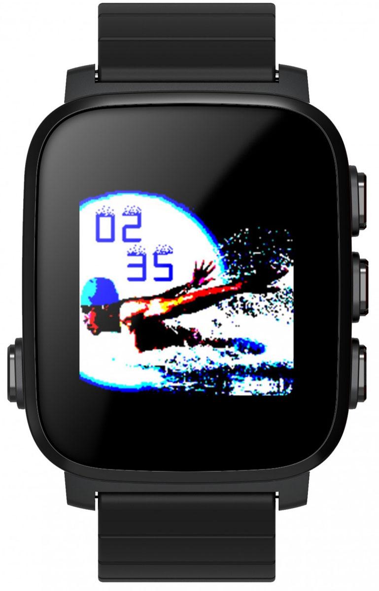 SMA Q2 Lite, Black умные часыSMA-Q2-Lite-BlackSMA Q2 Lite — это идейный наследник, снятых с производства Pebble. Часы обладают как смарт-функциями, таки возможностями отслеживания вашего физического состояния. Они на протяжении всего дня автоматическисчитают количество пройденных шагов, сожженных калорий, показания пульса и оценивают качество идлительность сна. Идеальное сочетание умных часов с фитнес-трекером. Интересной особенностью стал цветнойдисплей, выполненный по технологии Memory LCD. Как и в Pebble, он прекрасно читается даже при яркомсолнечном свете и потребляет всего 0,8% энергии в сравнении с другими дисплеями такого же размера. За счетэтого SMA Q2 Lite работают до 40 дней в режиме ожидания и до 15-20 дней в режиме активного использования!