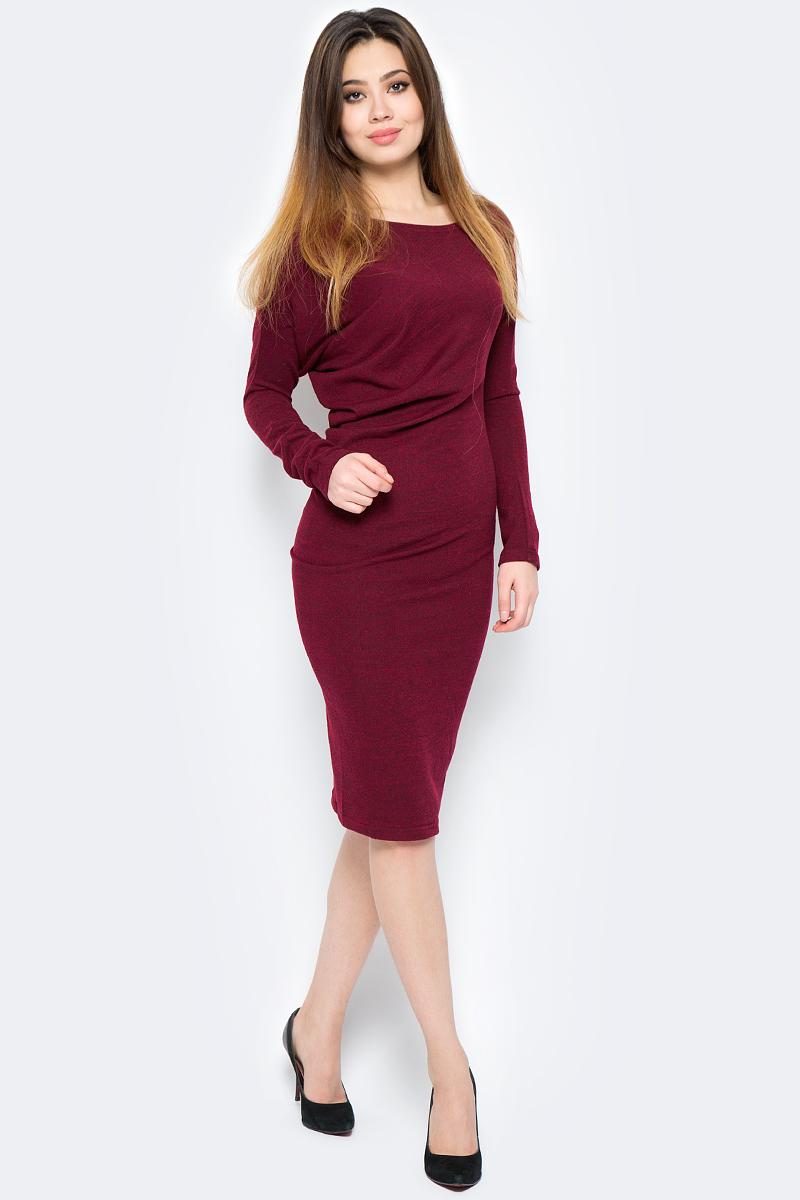 Платье La Via Estelar, цвет: бордовый. 13129-5. Размер 46