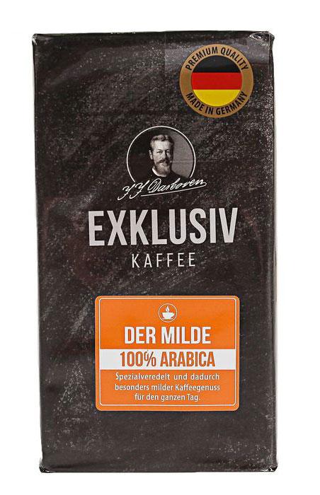 J.J.Darboven Exklusiv Kaffee der Milde кофе молотый, 250 г19529J.J.Darboven Der Milde (Дарбовен Дер Мильде) - эксклюзив из Германии, специально для любителей некрепкого, нежного молотого кофе.Это многогранный купаж, который включает в себя зерна Арабики высшего качества, собранные для вас в Центральной и Южной Америке, Восточной Африке, а также в Азии. Благодаря уникальной технологии обработки зерен, запатентованной в 1927 году, в них сохранилось много кофеина, а сам кофе обладает пониженной кислотностью без горького привкуса.Прекрасное соотношение цены и качества делают Der Milde еще более желанным.Кофе: мифы и факты. Статья OZON ГидУважаемые клиенты! Обращаем ваше внимание на возможные изменения в дизайне упаковки. Качественные характеристики товара остаются неизменными. Поставка осуществляется в зависимости от наличия на складе.