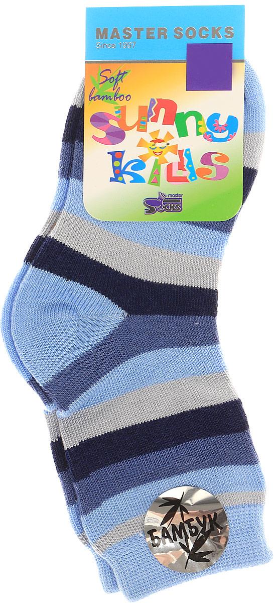 Носки детские Master Socks Sunny Kids, цвет: темно-синий. 82602. Размер 1482602Детские носки Master Socks Sunny Kids изготовлены из высококачественных материалов. Ткань очень мягкая и тактильно приятная. Содержание бамбука в составе обеспечивает высокую прочность, эластичность и воздухопроницаемость. Изделие хорошо стирается, длительное время сохраняет привлекательный внешний вид. Эластичная резинка мягко облегает ножку ребенка, обеспечивая удобство и комфорт. Модель оформлена принтом в полоску. Удобные и прочные носочки станут отличным дополнением к детскому гардеробу!Уважаемые клиенты!Размер, доступный для заказа, является длиной стопы.
