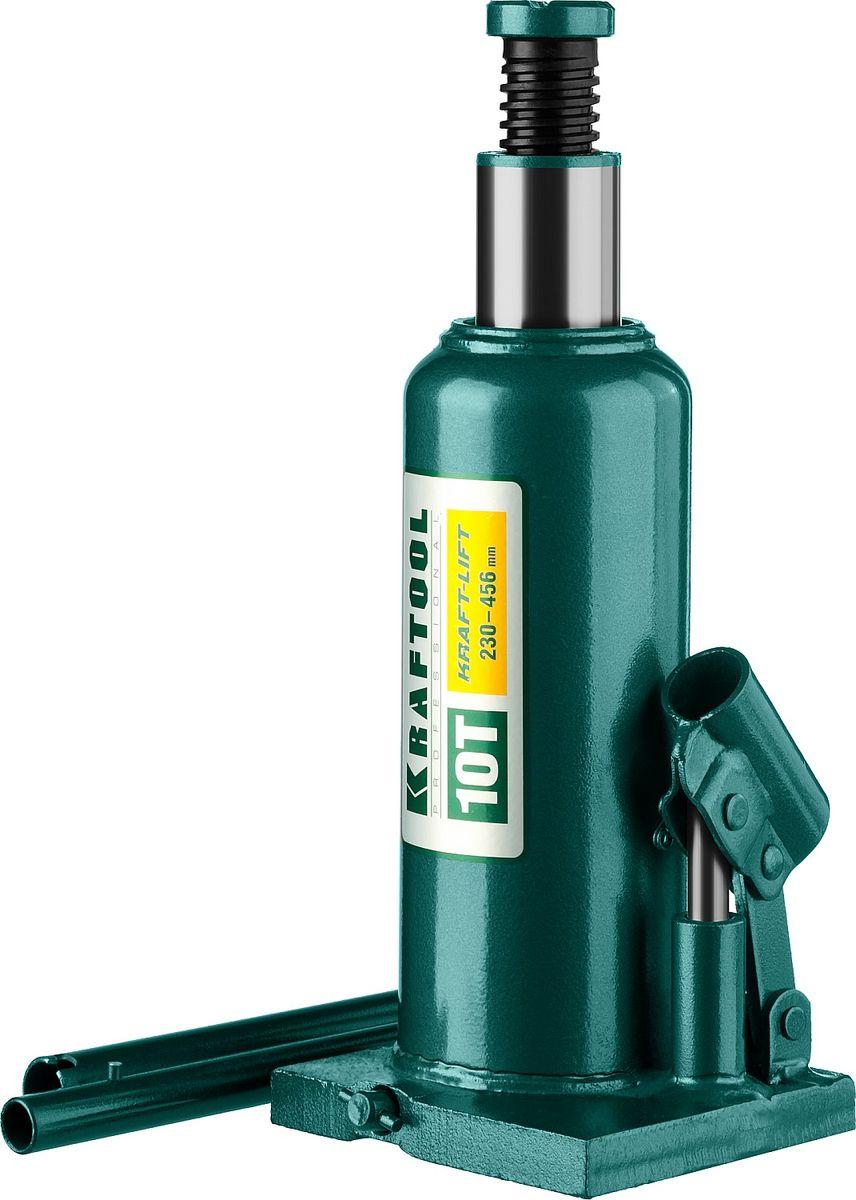 Домкрат Kraftool Kraft-Lift, гидравлический бутылочный, 10 т, высота подъема 23-45,6 см43462-10_z01Домкрат гидравлический бутылочный Kraftool 43462-10_z01, предназначен для профессионального применения в строительстве. Сварная конструкция надежно защищает домкрат от протечек масла, ввиду отсутствия резьбовых соединений, что обеспечивает высокий срок службы домкрата. Компактность, небольшой вес и высокая грузоподъемность позволяет использовать домкрат при проведении ремонтно-строительных работ. Часто используется для обслуживания автомобилей или при работах связанных с ремонтом фундаментов. Сварная конструкция. Компактность. Высокая грузоподъемность. Не требует дополнительных приспособлений при использовании.