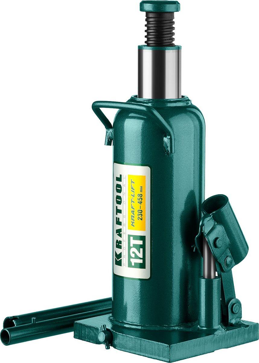 Домкрат Kraftool Kraft-Lift, гидравлический бутылочный, 12 т, высота подъема 23-45,8 см домкрат белак бак 00531 2т