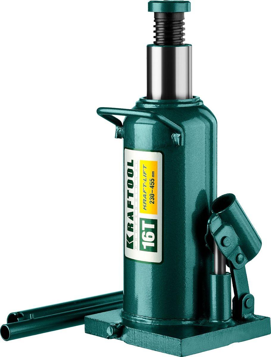 Домкрат Kraftool Kraft-Lift, гидравлический бутылочный, 16 т, высота подъема 23-45,5 см домкрат белак бак 00531 2т