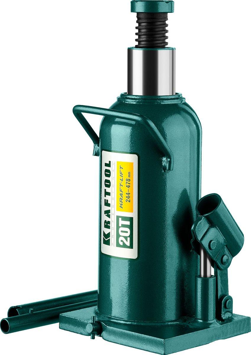 Домкрат Kraftool Kraft-Lift, гидравлический бутылочный, 20 т, высота подъема 24,4-47,8 см43462-20_z01Гидравлический бутылочный домкрат Kraftool Kraft-Lift предназначен для профессионального применения в строительстве. Сварная конструкция надежно защищает домкрат от протечек масла, ввиду отсутствия резьбовых соединений, что обеспечивает высокий срок службы домкрата.Компактность, небольшой вес и высокая грузоподъемность позволяет использовать домкрат при проведении ремонтно-строительных работ. Часто используется для обслуживания автомобилей или при работах связанных с ремонтом фундаментов.Особенности: Сварная конструкция. Компактность. Высокая грузоподъемность. Не требует дополнительных приспособлений при использовании.