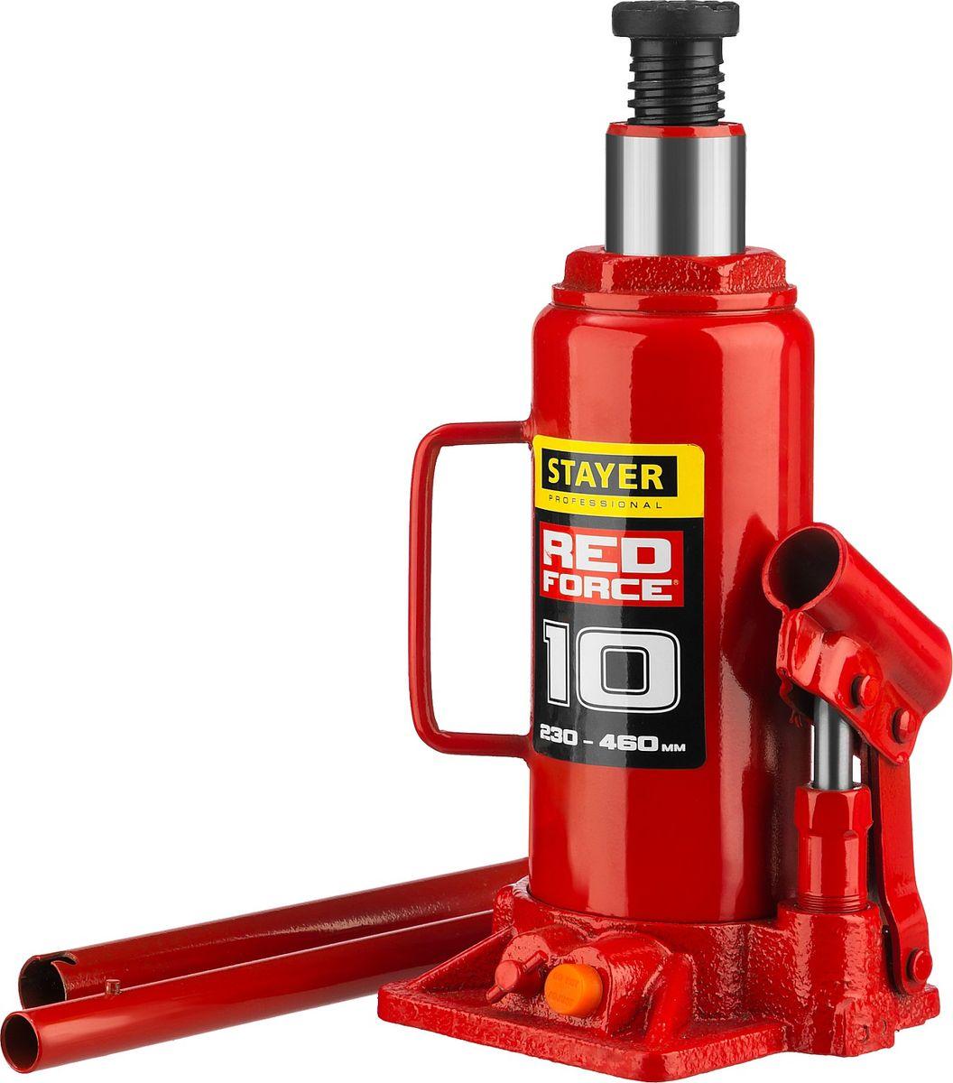 Домкрат Stayer Red Force, гидравлический бутылочный, 10 т, высота подъема 23-46 см43160-10_z01Домкрат гидравлический бутылочный Stayer 43160-10_z01, используется для обслуживания автомобилей или при работах связанных с ремонтом фундаментов. Компактность, небольшой вес и высокая грузоподъемность позволяет использовать домкрат при проведении ремонтно-строительных работах. Компактный. Высокая грузоподъемность.