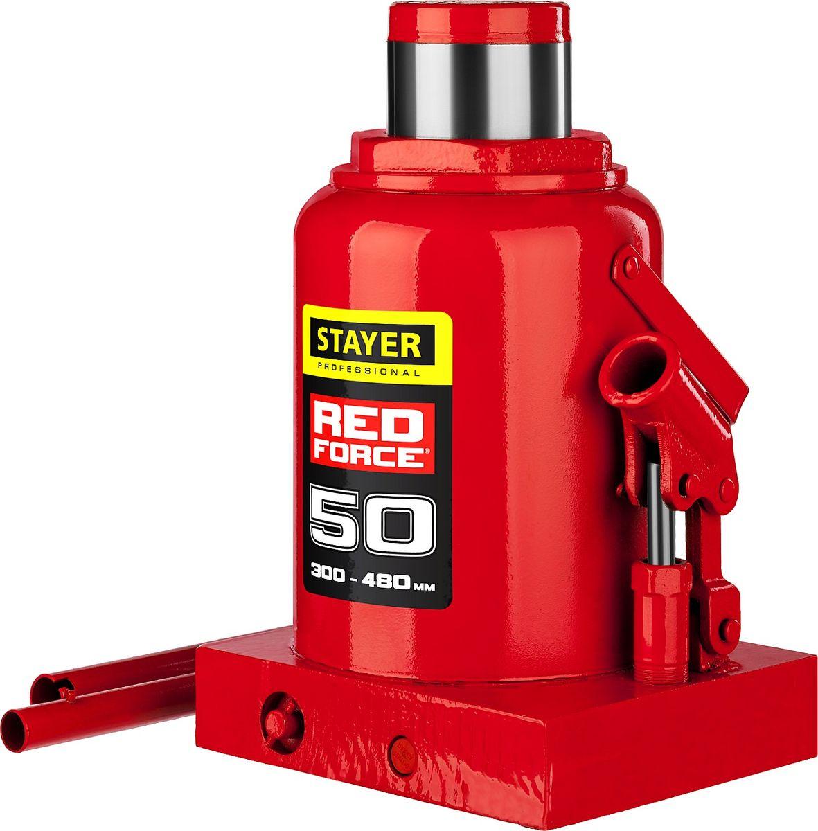 Домкрат Stayer Red Force, гидравлический бутылочный, 50 т, высота подъема 30-48 см43160-50_z01Домкрат гидравлический бутылочный Stayer 43160-50_z01, используется для обслуживания автомобилей или при работах связанных с ремонтом фундаментов. Компактность, небольшой вес и высокая грузоподъемность позволяет использовать домкрат при проведении ремонтно-строительных работах. Компактный. Высокая грузоподъемность.
