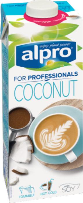 Alpro Professionals Кокосовый напиток, обогащенный кальцием и витаминами, 1 л valio сливки для кофе 10% 1 л