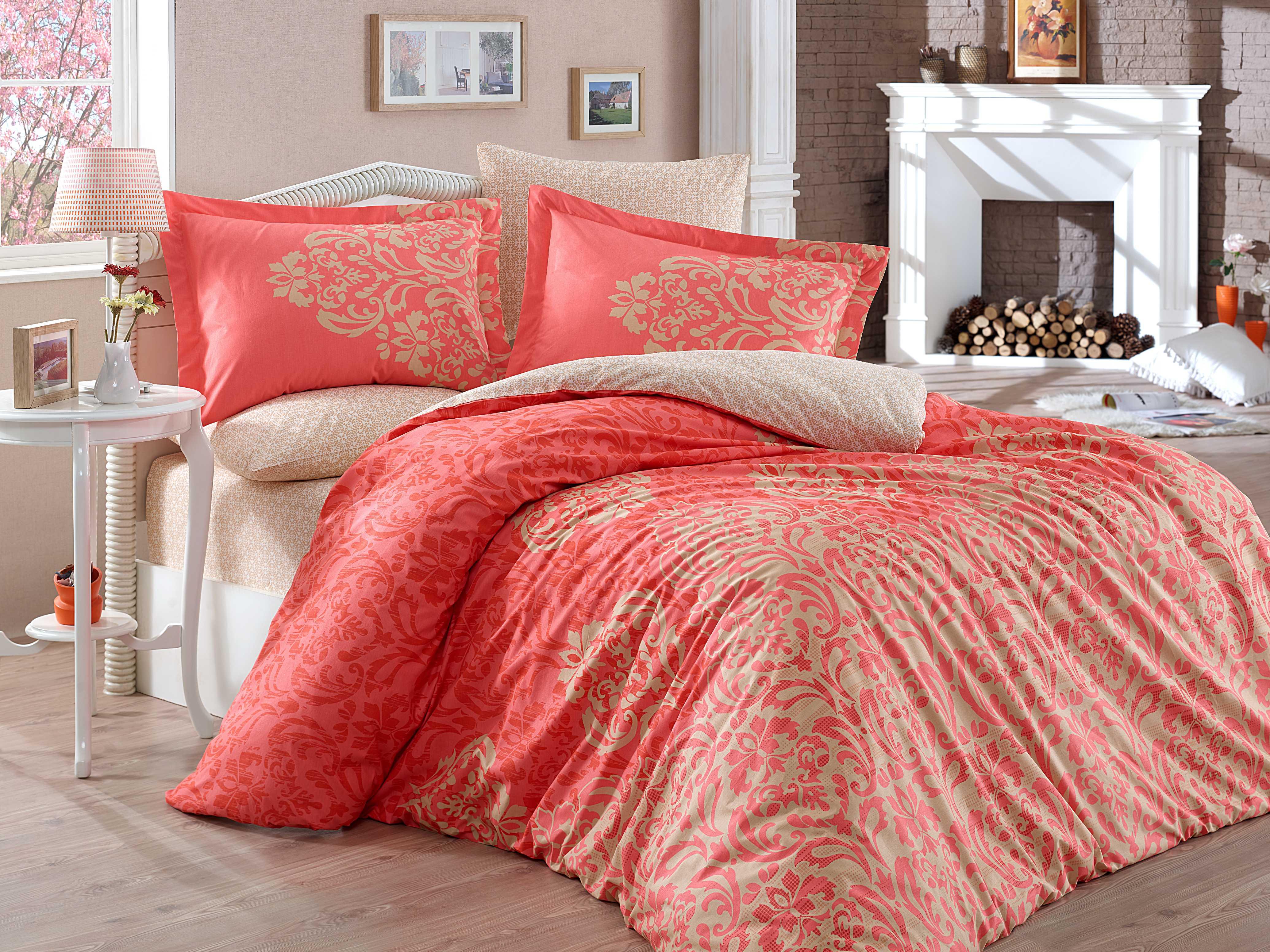 Комплект постельного белья Hobby Home Collection Serenity, евро, наволочки 50x70, цвет: персиковый