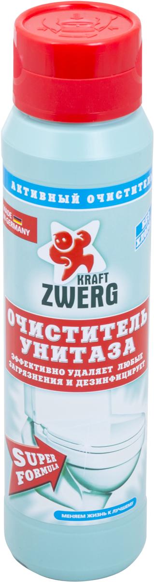 Очиститель унитаза Kraft Zwerg Супер формула, гранулы, 600 г54100Очиститель унитаза в гранулах 600 грВысокоэффективное средство для чистки унитазов из фаянса и керамики.- не содержит хлора, агрессивных веществ и абразивов-дезинфицирует поверхность и убивает бактерии- Эффективно действует даже под водойКак выбрать качественную бытовую химию, безопасную для природы и людей. Статья OZON Гид